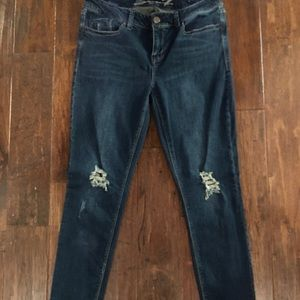 Women's size 12 Seven7 distressed jeans